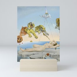 Salvador dali Dream caused by the flight of a bee around a pomegranate one second before waking up Mini Art Print