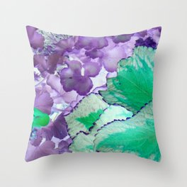 Alien Vegetation Throw Pillow