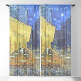 Vincent van Gogh Cafe Terrace at Night Sheer Curtain