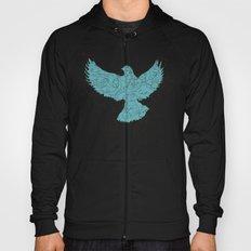 Bird Fly 3 - Aqua/Brown Hoody