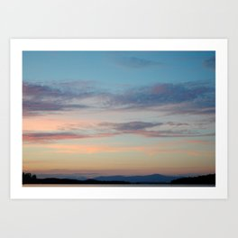 Mountains and Skies Art Print