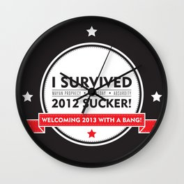 I SURVIVED 2012 SUCKER 2 Wall Clock