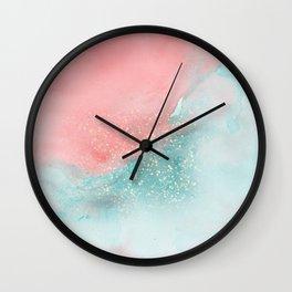 Watercolor Sparkle Wall Clock