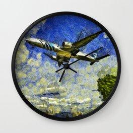 Airliner Van Gogh Wall Clock
