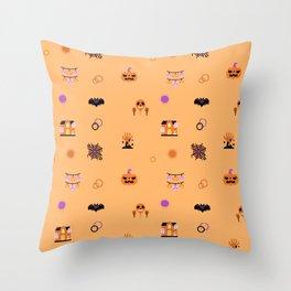 Festive Halloween Throw Pillow