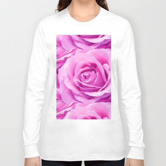 Soft Pink Rose Long Sleeve T-shirt