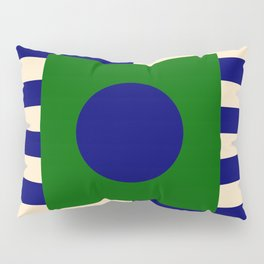 GEOMETRY BLUE&GREEN V Pillow Sham