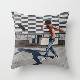 Skate boarding guy Throw Pillow