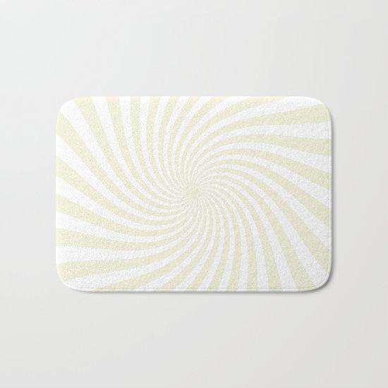 Swirl (Beige/White) Bath Mat