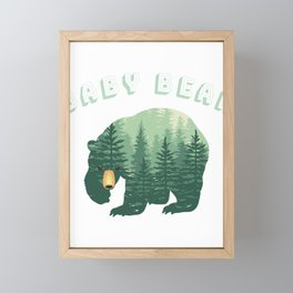 Baby Bear Forest Family Fun Framed Mini Art Print