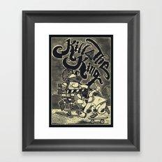 KILL THE KING AGAIN. Framed Art Print