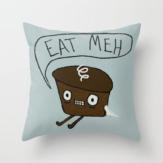 Eat Me Cupcake Throw Pillow