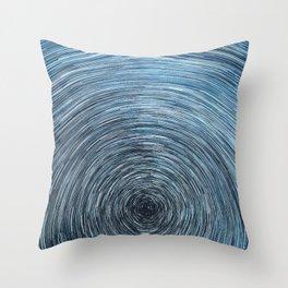 Deep Sky Star Trail Throw Pillow