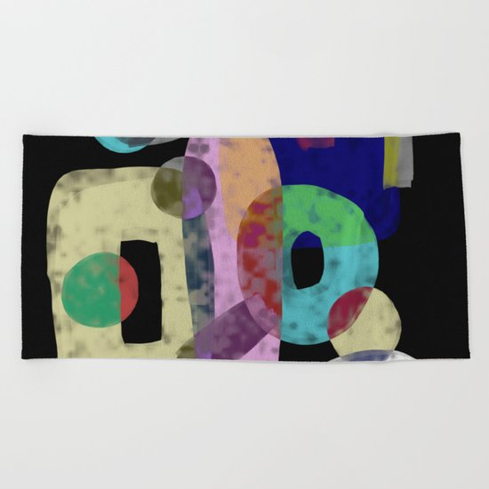Abstract Pastel Art - Eclectic, pastel, abstract artwork Beach Towel