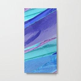 Silky Pastel Waves Metal Print