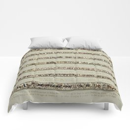 Bayeux Tapestry on cream - Full scenes and description Comforters