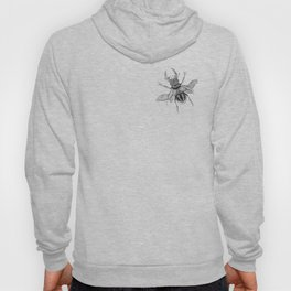 Dotwork Flying Beetle Illustration Hoody