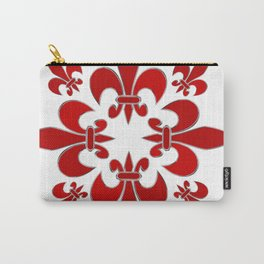 Fleur de Lis pattern Carry-All Pouch
