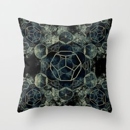 Sacred Geometry for your daily life -  Platonic Solids - ETHER Throw Pillow