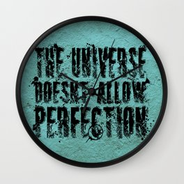 Stephen Hawking on Perfection Wall Clock