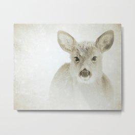 IT'S SNOWING, DEER  Metal Print