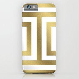 Gold Greek Stripes iPhone Case