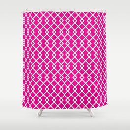 Hot Pink Diamond Pattern Shower Curtain