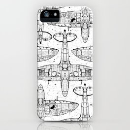 Spitfire Mk. XIV (black) iPhone Case