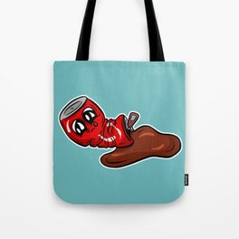 Sad Fizzy Crushed Cola Can Cartoon - Joey Tote Bag