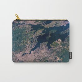 Providence, Newport, Narragansett Bay, Rhode Island Satellite Photograph Carry-All Pouch
