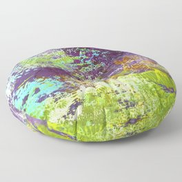 Heron Abstract Painting Floor Pillow