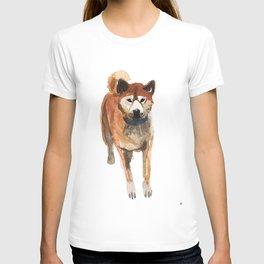 watercolor dog vol 8 shiba inu T-shirt