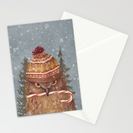 Christmas Owl  Stationery Cards