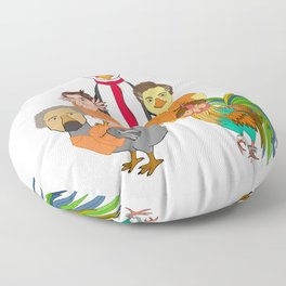 Flock of Felons Floor Pillow