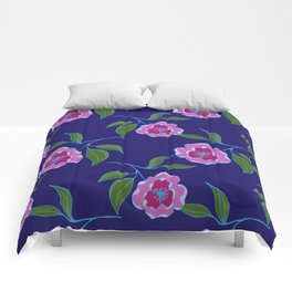 Peony Floral Floating Pattern Comforters