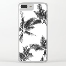 Palm Trees from Below Clear iPhone Case