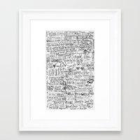 lyrics Framed Art Prints featuring TS lyrics by Faith
