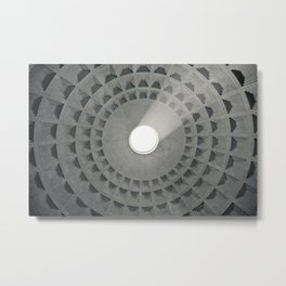 Pantheon Ceiling Metal Print