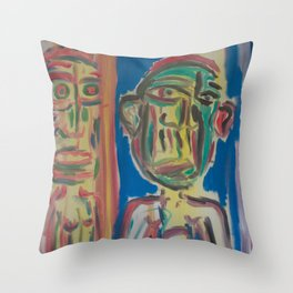 Twin Portrait Throw Pillow