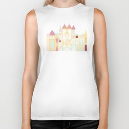 Happy Castle - Pink Variation Biker Tank