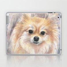 Pomeranian Watercolor Pom Puppy Dog Painting Laptop & iPad Skin