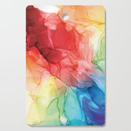 Rainbow Good Vibes Abstract Painting Cutting Board