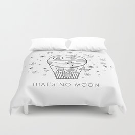 That's No Moon Death Star Hot Air Balloon Storm Tr Duvet Cover