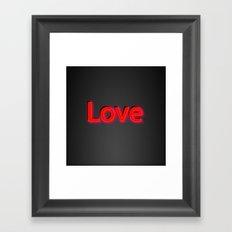 Just Love Framed Art Print