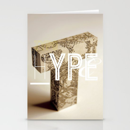 Typographic Hype Stationery Cards