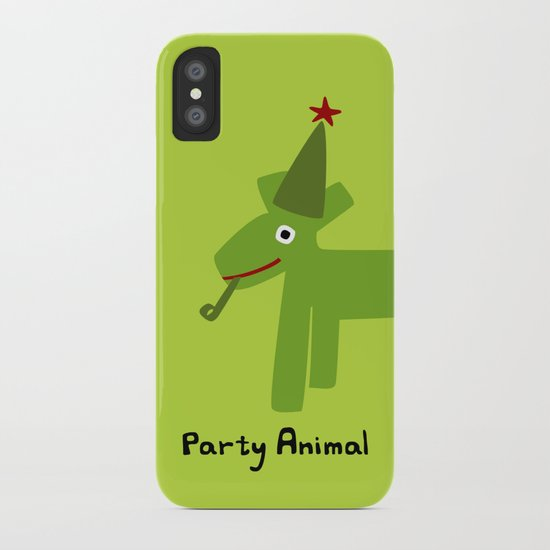 Party Animal-Green iPhone Case