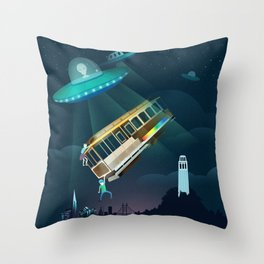 World Issues-San Francisco Incident Throw Pillow