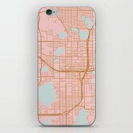 Orlando map, Florida iPhone Skin