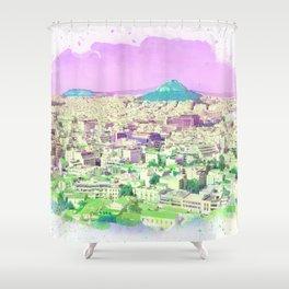 Athens Purple Sky Shower Curtain