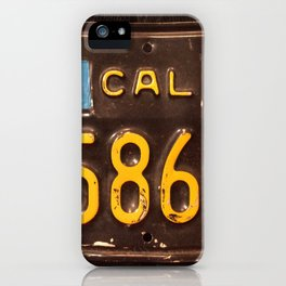Motorcycle license plate iPhone Case